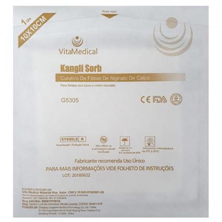Curativo de Alginato de Cálcio 10cm x 10cm Kangli Sorb