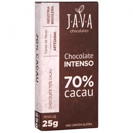 Chocolate Intenso 70% Cacau 25g Java