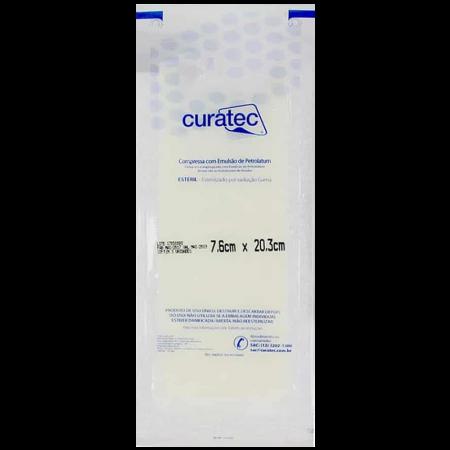 Compressa com Emulsão de Petrolatum 7,6cm X 20,3cm Pacote com 3 Unidades Curatec