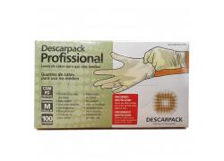 Luvas de Latex com Pó para Uso Não Médico com 50 Pares Tamanho M Descarpack