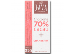 Chocolate 70% Cacau com Cranberry 25g Java