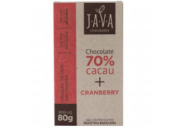 Chocolate 70% Cacau com Cranberry 80g Java