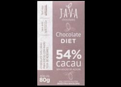 Chocolate 54% Cacau Diet 80g Java