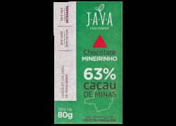 Chocolate 63% Cacau Mineirinho 80g Java