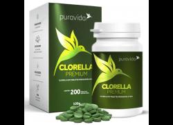 Clorella Premium Com 200 Tabletes 500mg PuraVida