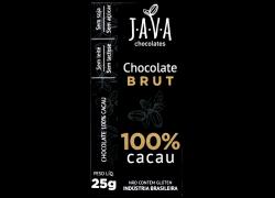 Chocolate 100% Cacau Brut 25g Java