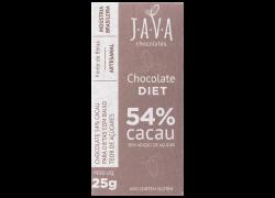 Chocolate 54% Cacau Diet 25g Java