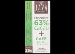 Chocolate 63% Cacau Com Café 25g Java