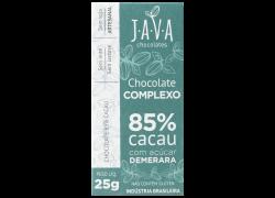 Chocolate 85% Cacau Demerara 25g Java