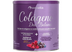 Colágeno Duo Balance Hibiscus e Frutas Roxas - Lata 285g Sanavita